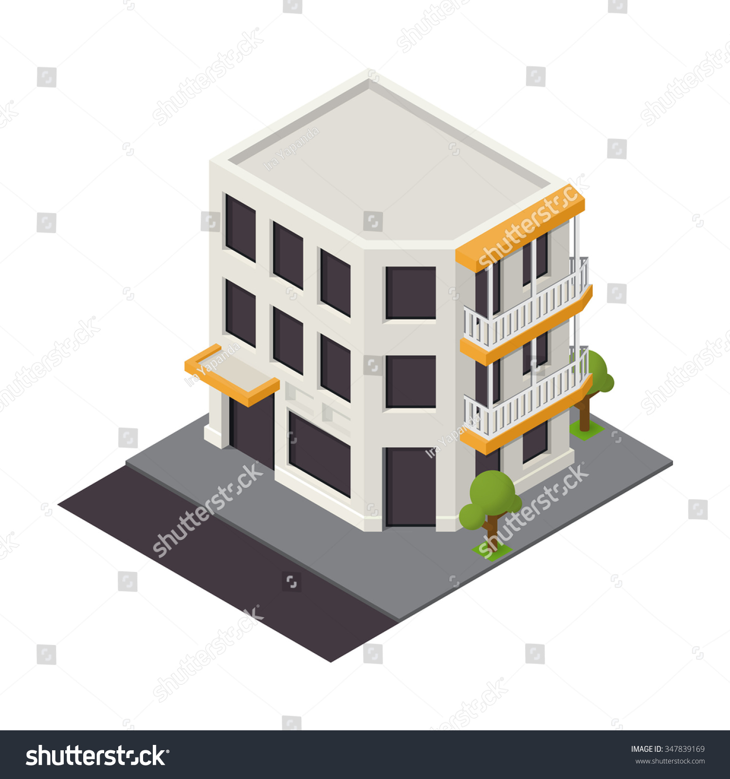 vector isometric building icon 3d city stock vector