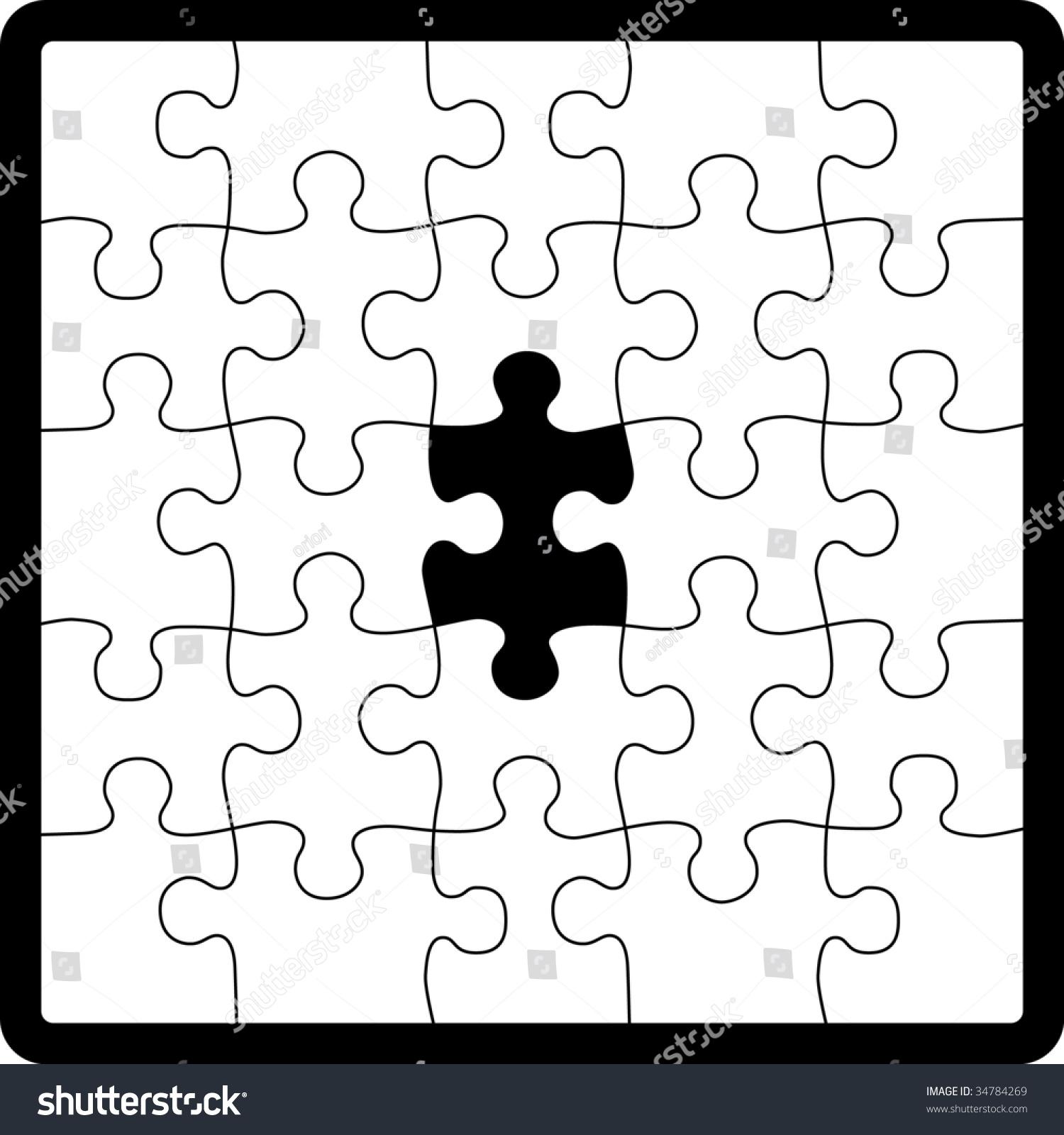 Puzzle Shape Stock Vector 34784269 - Shutterstock