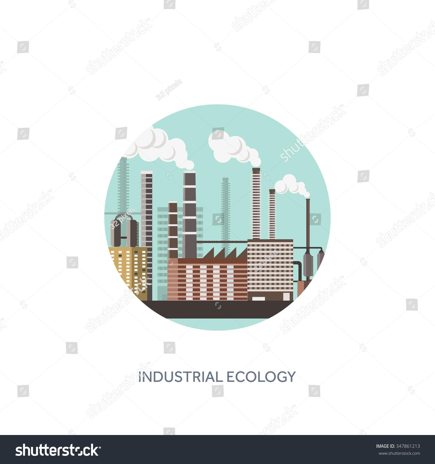 Vector Illustration. Urbanisation, Industrialisation