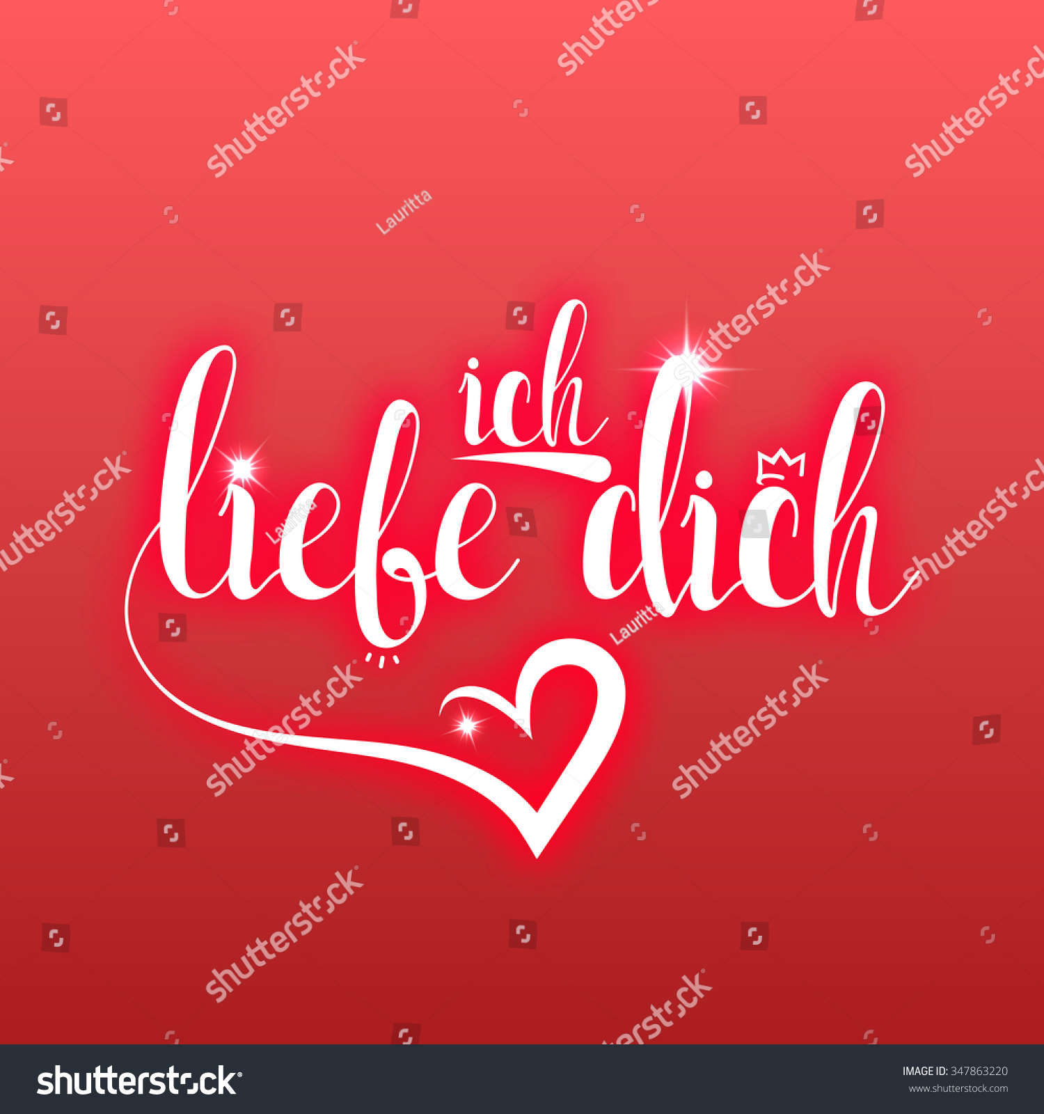 Calligraphic Phrase Text Quote Love You Vector 347863220 – German Valentines Day Cards
