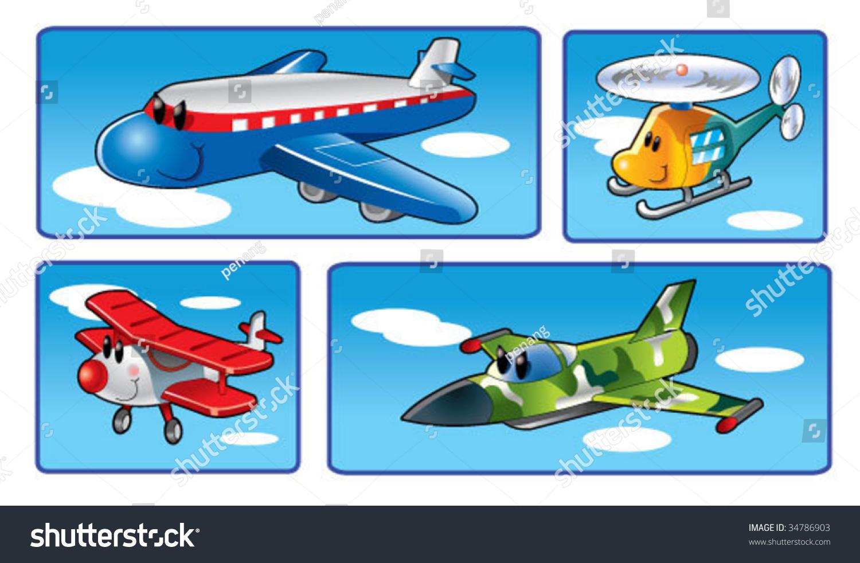 cartoon aeroplane flying stock vector 34786903 shutterstock