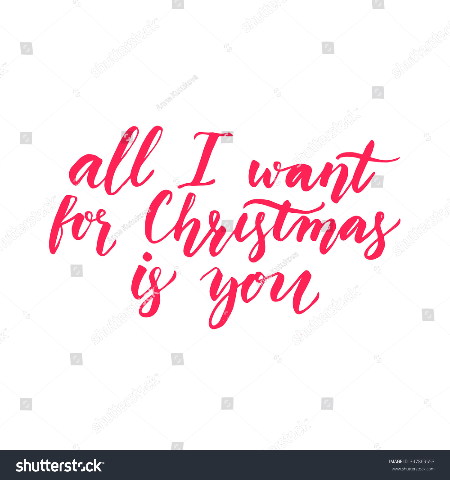 All Want Christmas You Inspirational Quote Stock Vector (Royalty ...