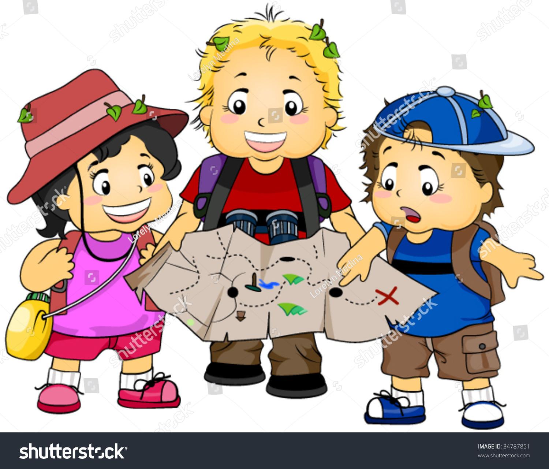 Treasure Toys Cartoon : Treasure hunting vector stock shutterstock