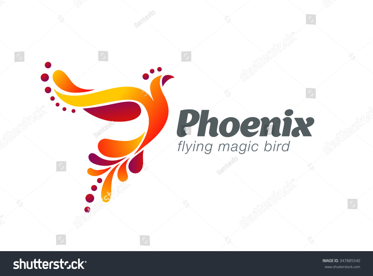 Magic Fairy Bird Abstract Logo Design Stock Vector 347885540 Shutterstock