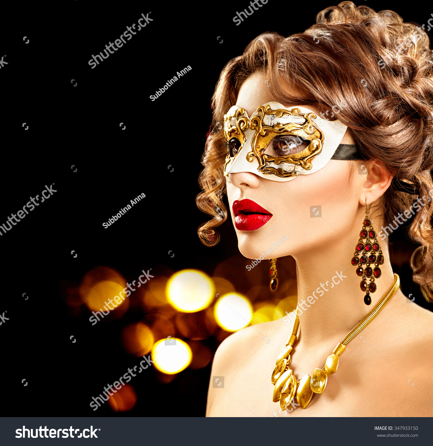 Masquerade Hairstyles With Mask masquerade ball stock photos, images ...