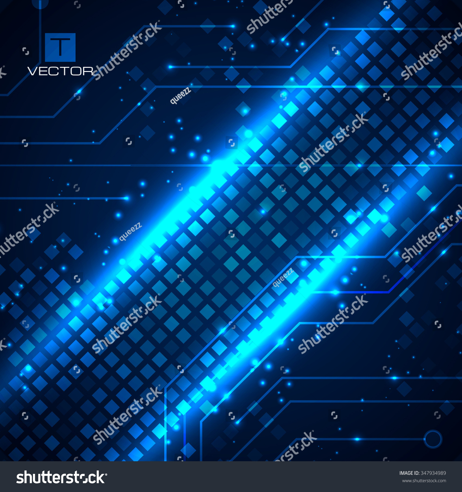 Technology Background With Circuit Boards Elements Vector Board Place For Text Id 347934989