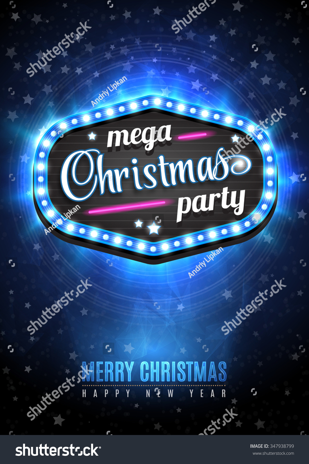 christmas party poster design template snow stock vector 347938799 christmas party poster design template snow and sign mega christmas party in light frame