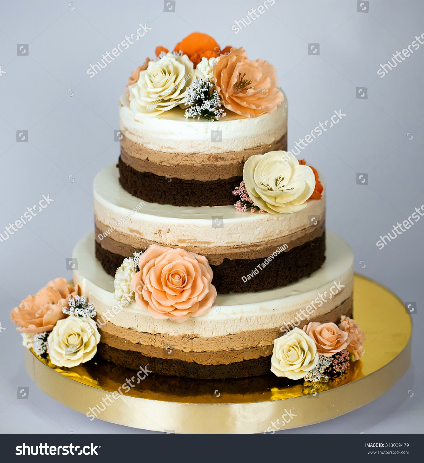 Naked Cake Wedding Rustic With Flowers