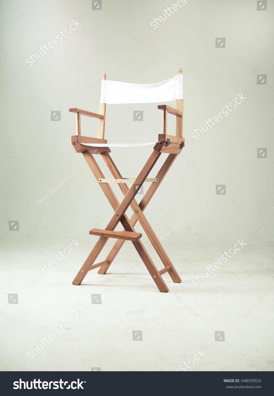 Beau High Director Chair Bar Stool On White Background. Shallow Focus. Studio.