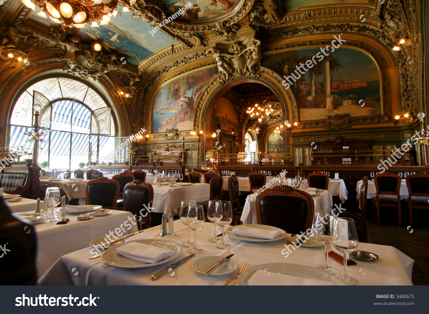 Top Famous Restaurant Le Train Bleu Gare Stock Photo 3480675  HH41