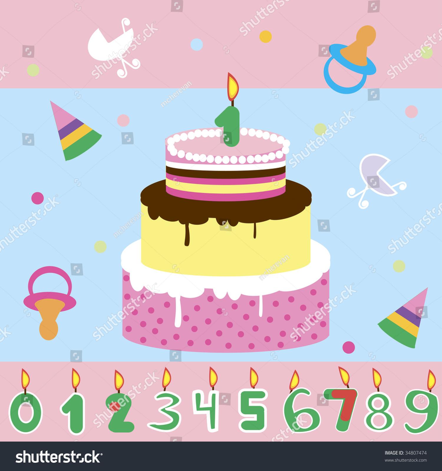 Vector Birthday Cake Invitation Ez Canvas