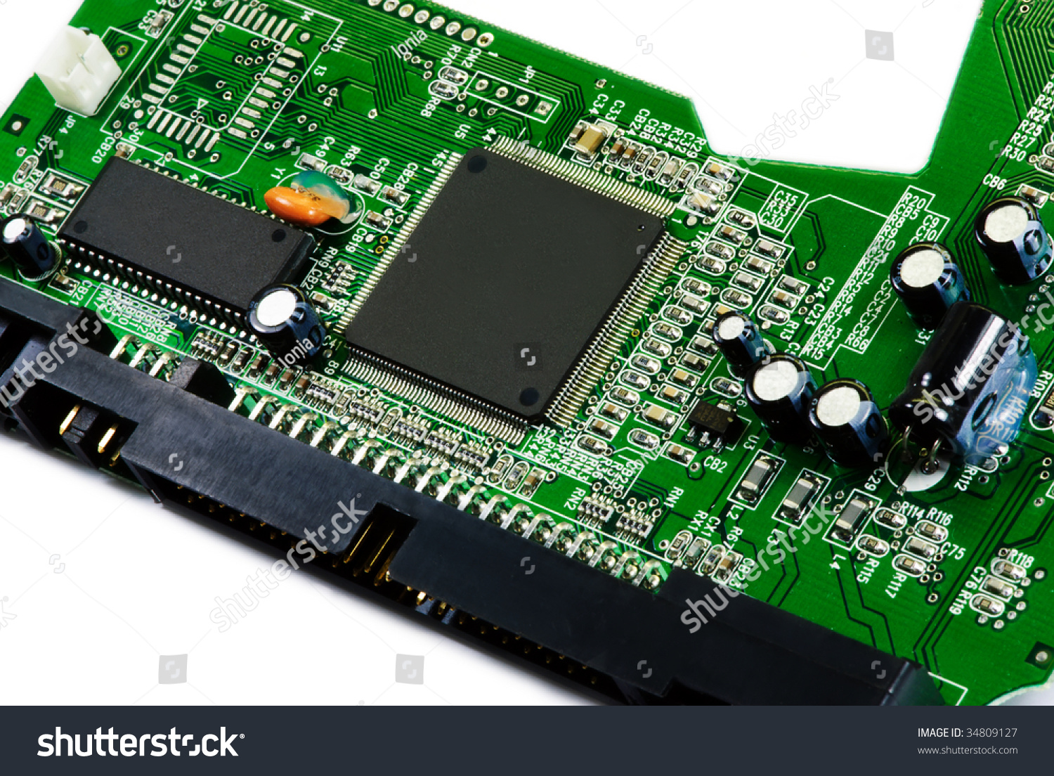 Printed Circuit Board Stock Photo 5153818 Shutterstock Sata And Ata Hard Disk Connector Close Up Image Ez Canvas