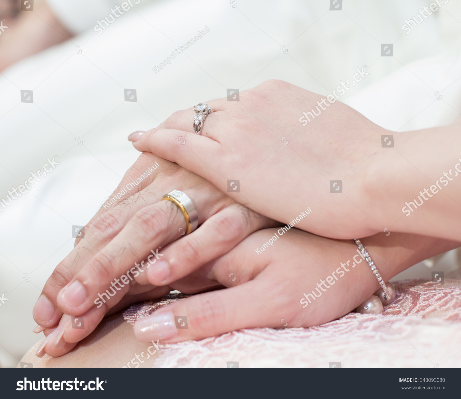 Betrothal Wedding Rings Thailand Wedding Stock Photo (100% Legal ...