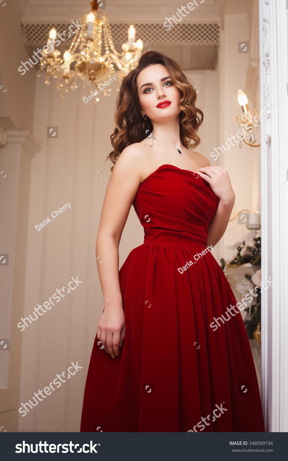 Beautiful Young Woman Perfect Make Hair Stock Photo (Royalty Free ...