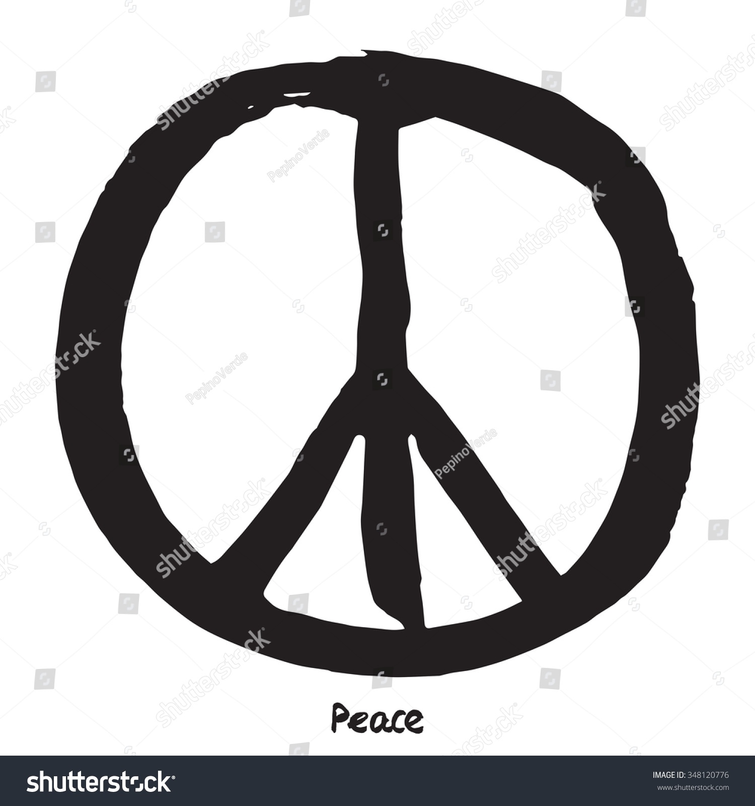 Peace Symbol Stock Vector Royalty Free 348120776 Shutterstock