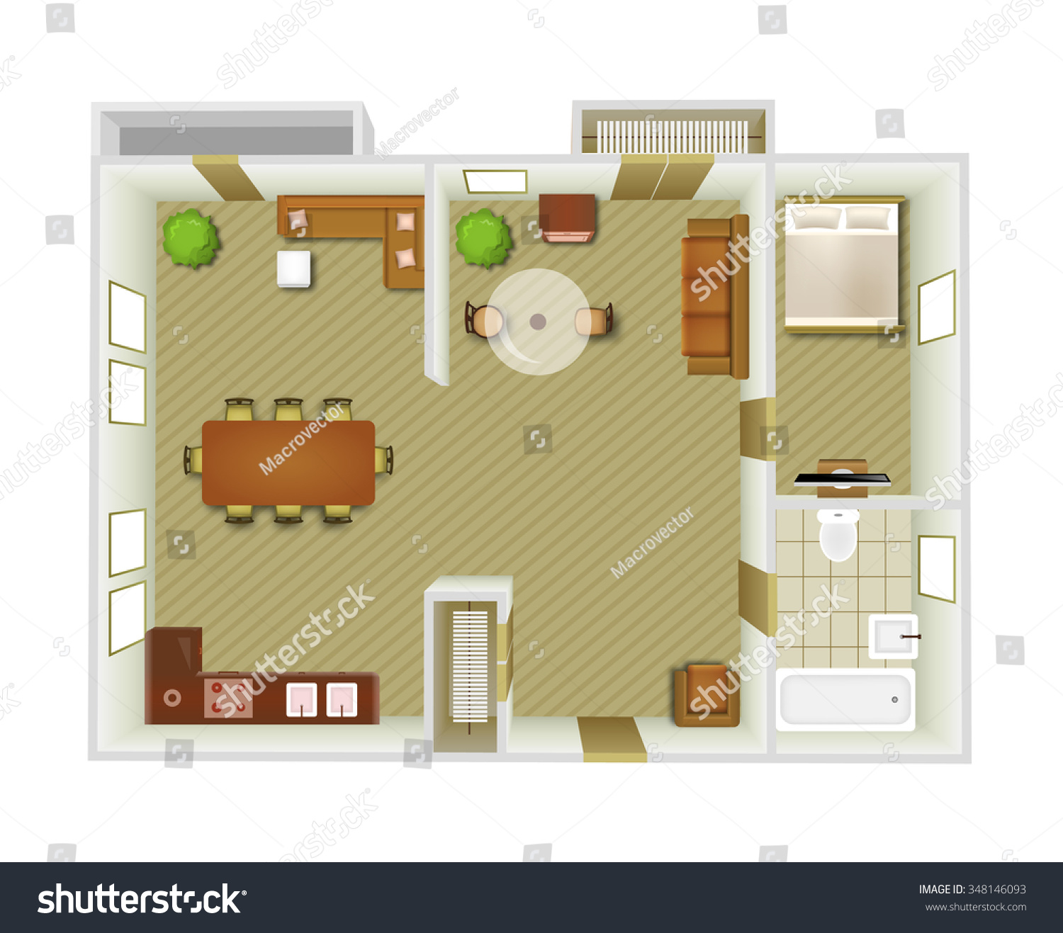 living room top view flat interior top view living room stock vector 348146093 14256