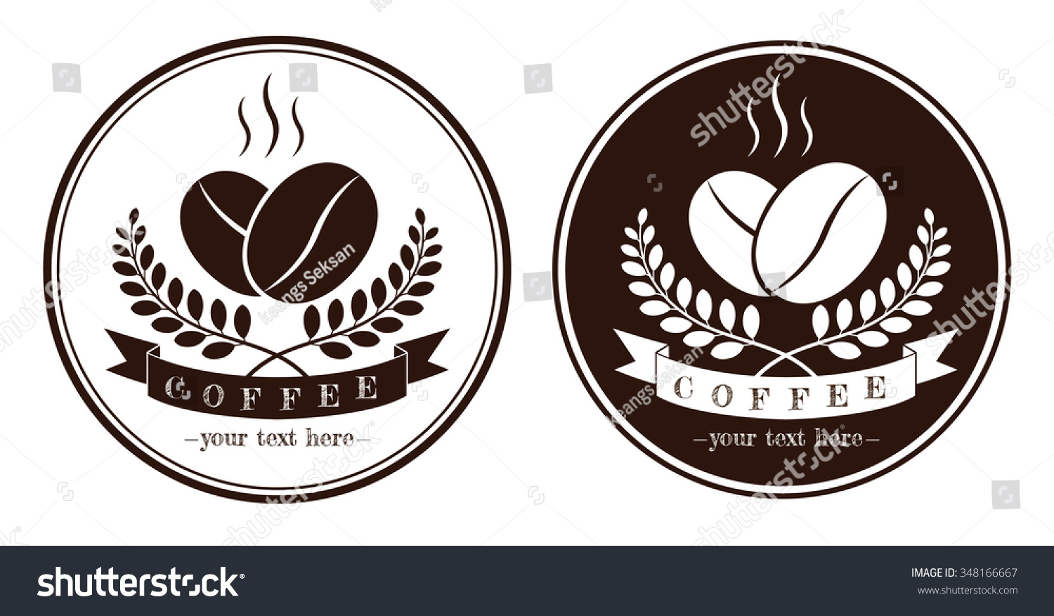 coffee logo coffee labels coffee design stock vector royalty free