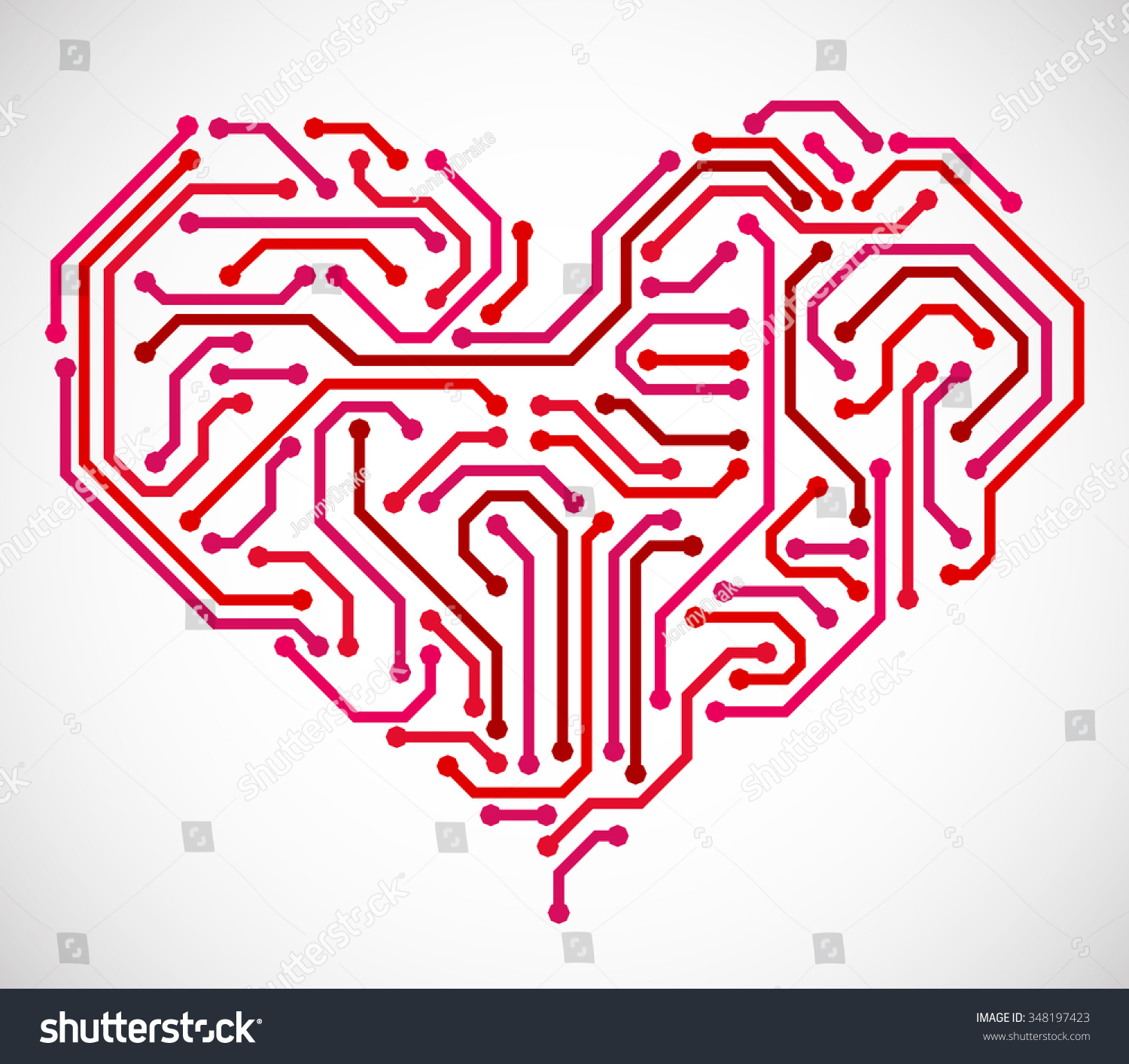 Heart Made Printed Circuit Board Stock Vector Royalty Free Designing A And Getting It From