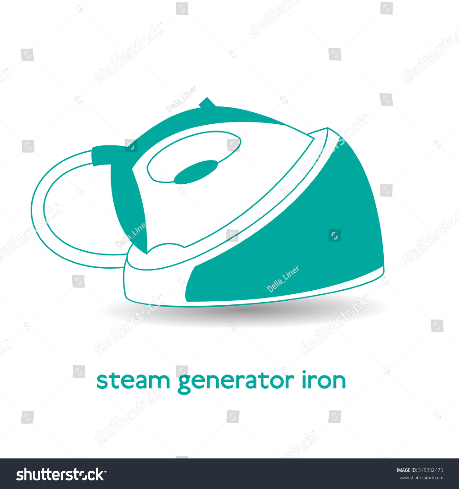Steam Generator Iron Icon Isolated Stock Vector