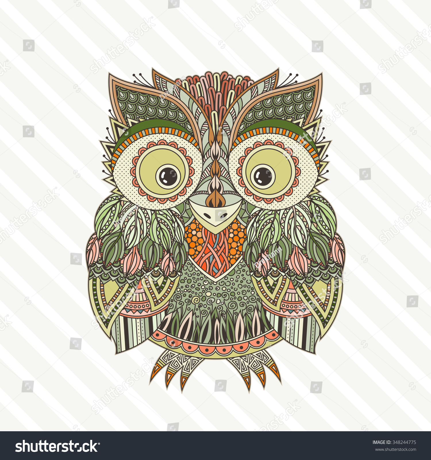 unique coloring pages owl ornate - photo#28