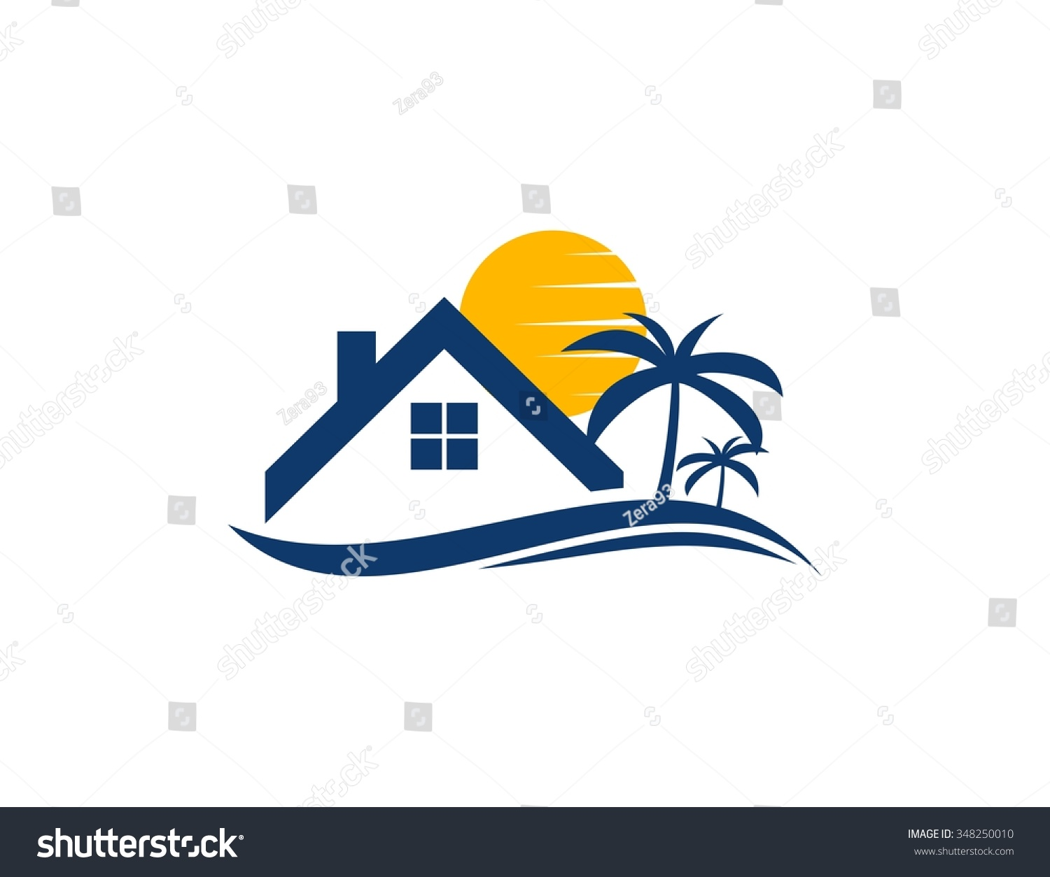 The gallery for --> Beach House Vector