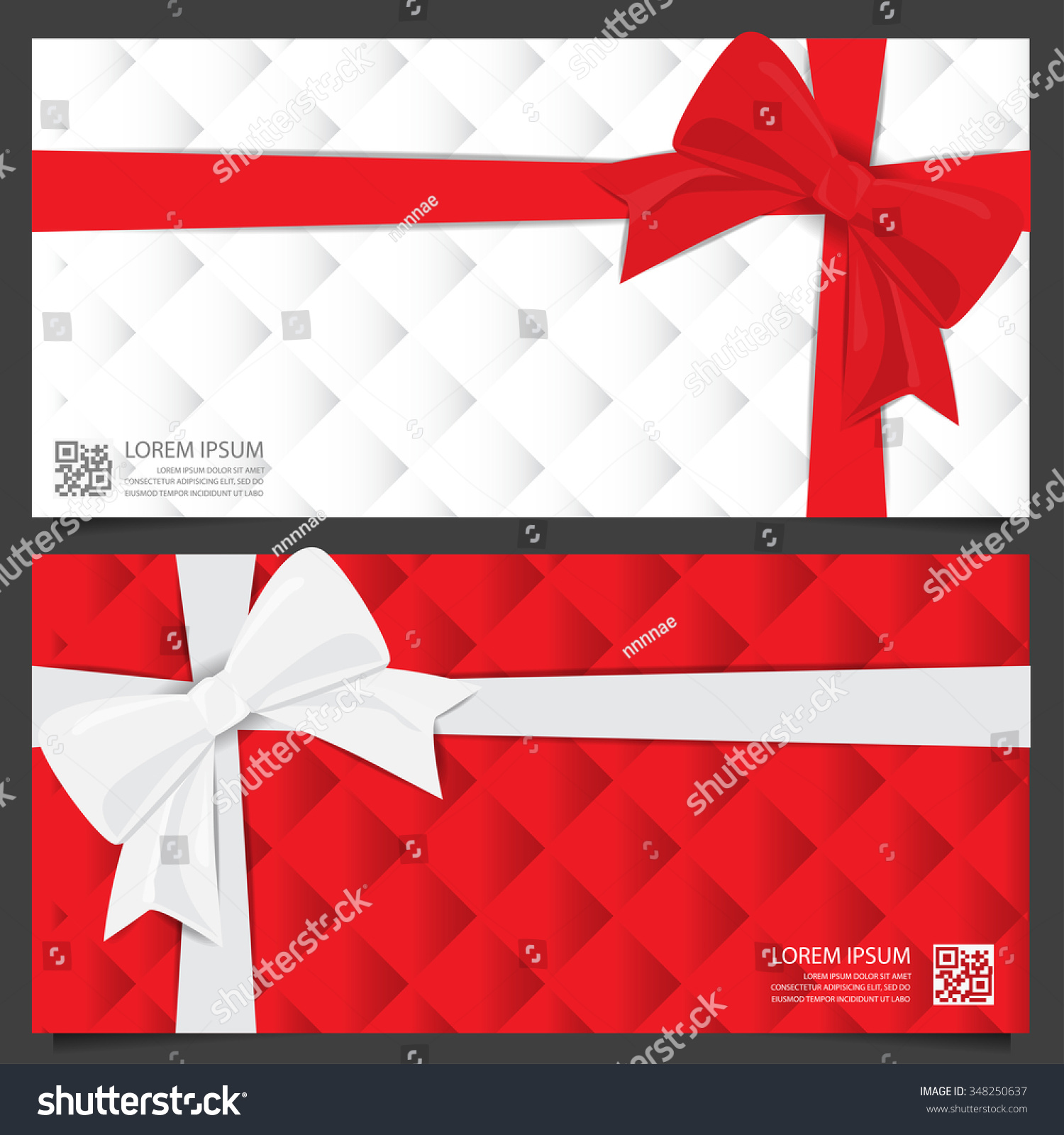 christmas holiday and new year gift voucher certificate coupon save to a lightbox