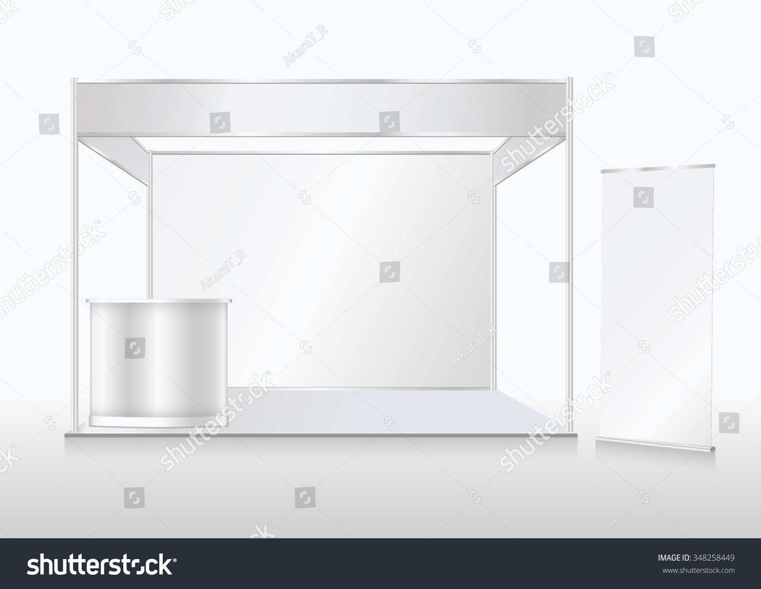 Exhibition Booth Vector : Blank trade show booth mock up stock vector