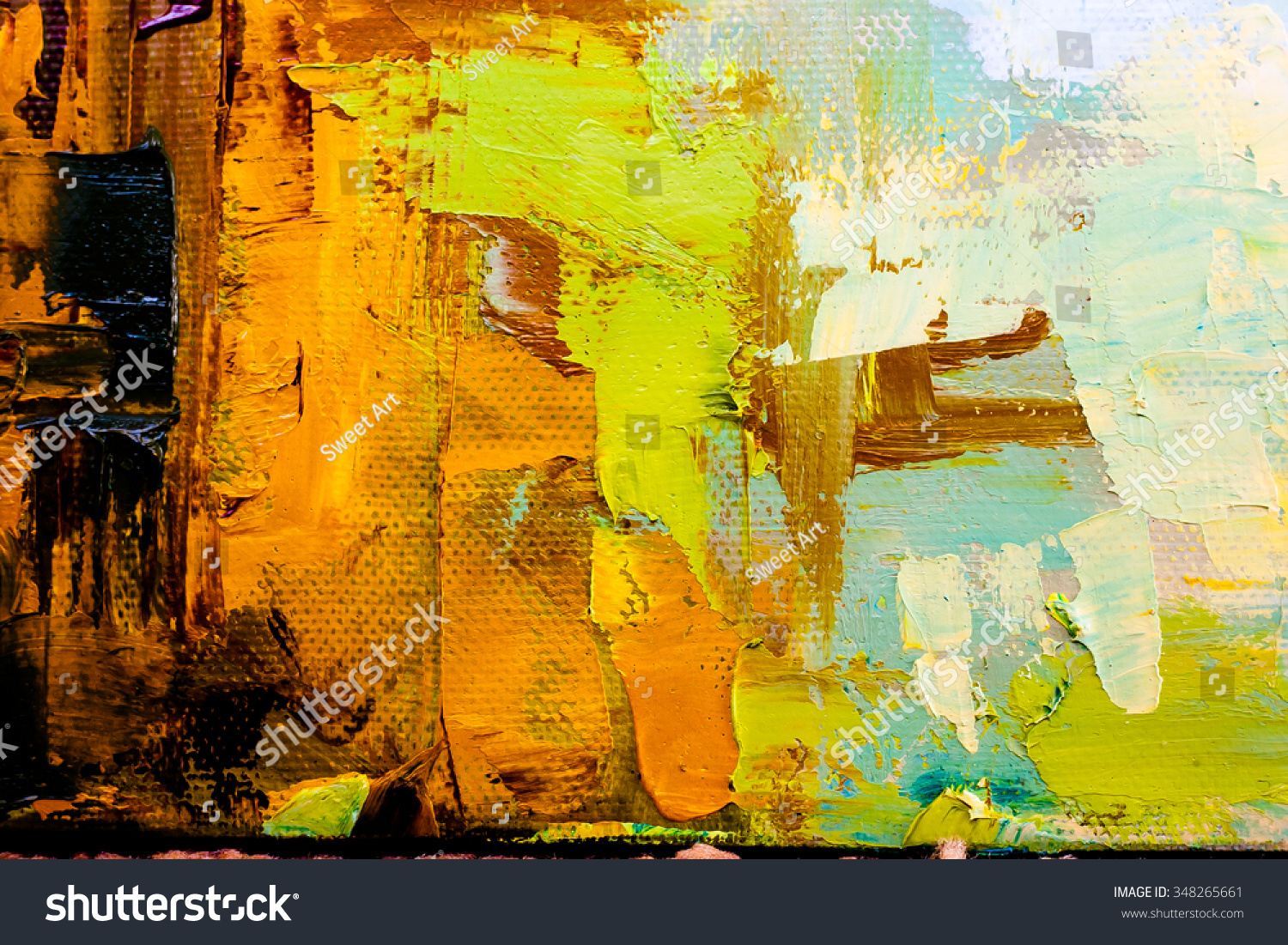 Hand drawn oil painting abstract art stock illustration for What is canvas painting