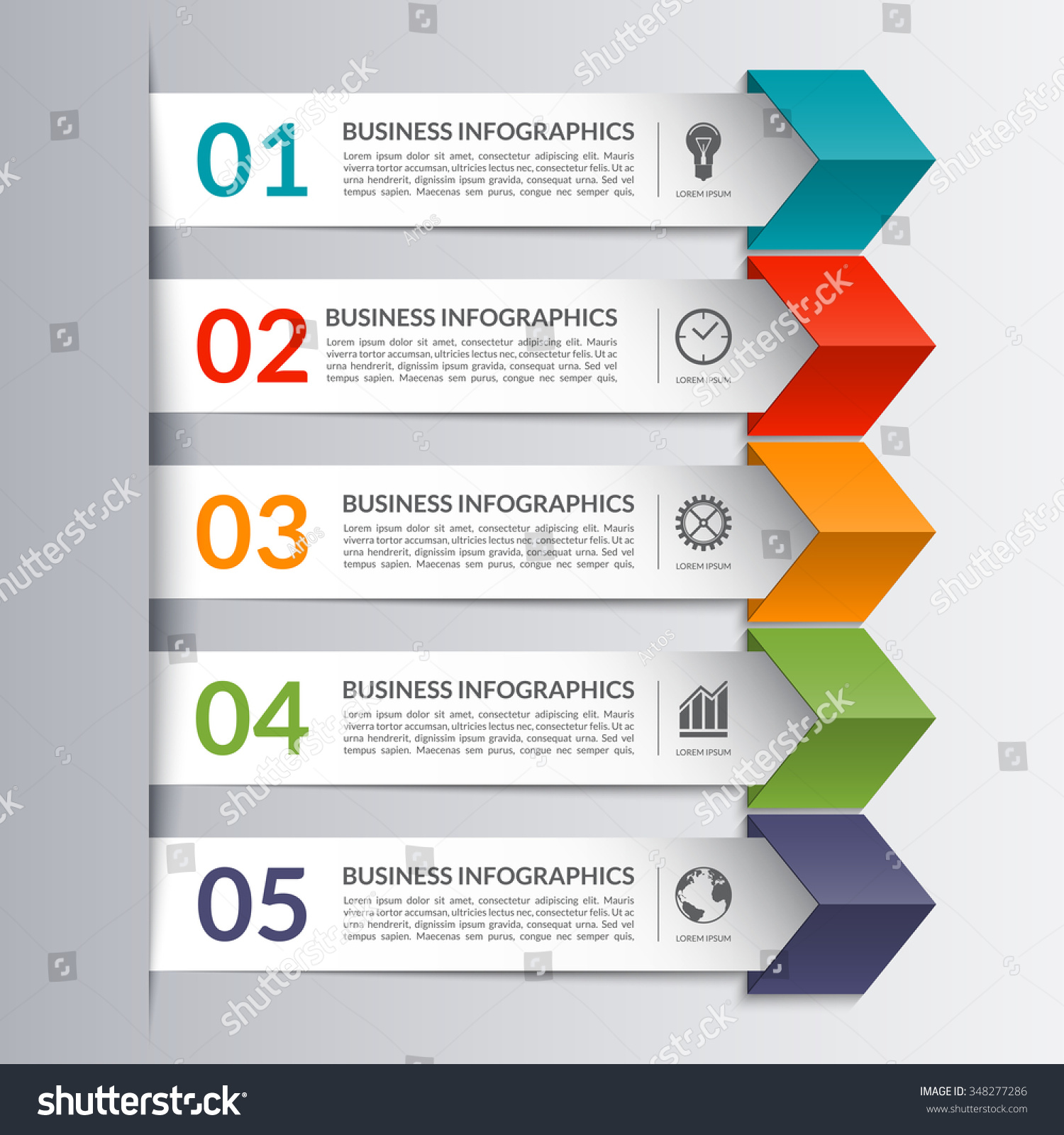 Business Infographics Design Template Form Colored Stock Vector ...