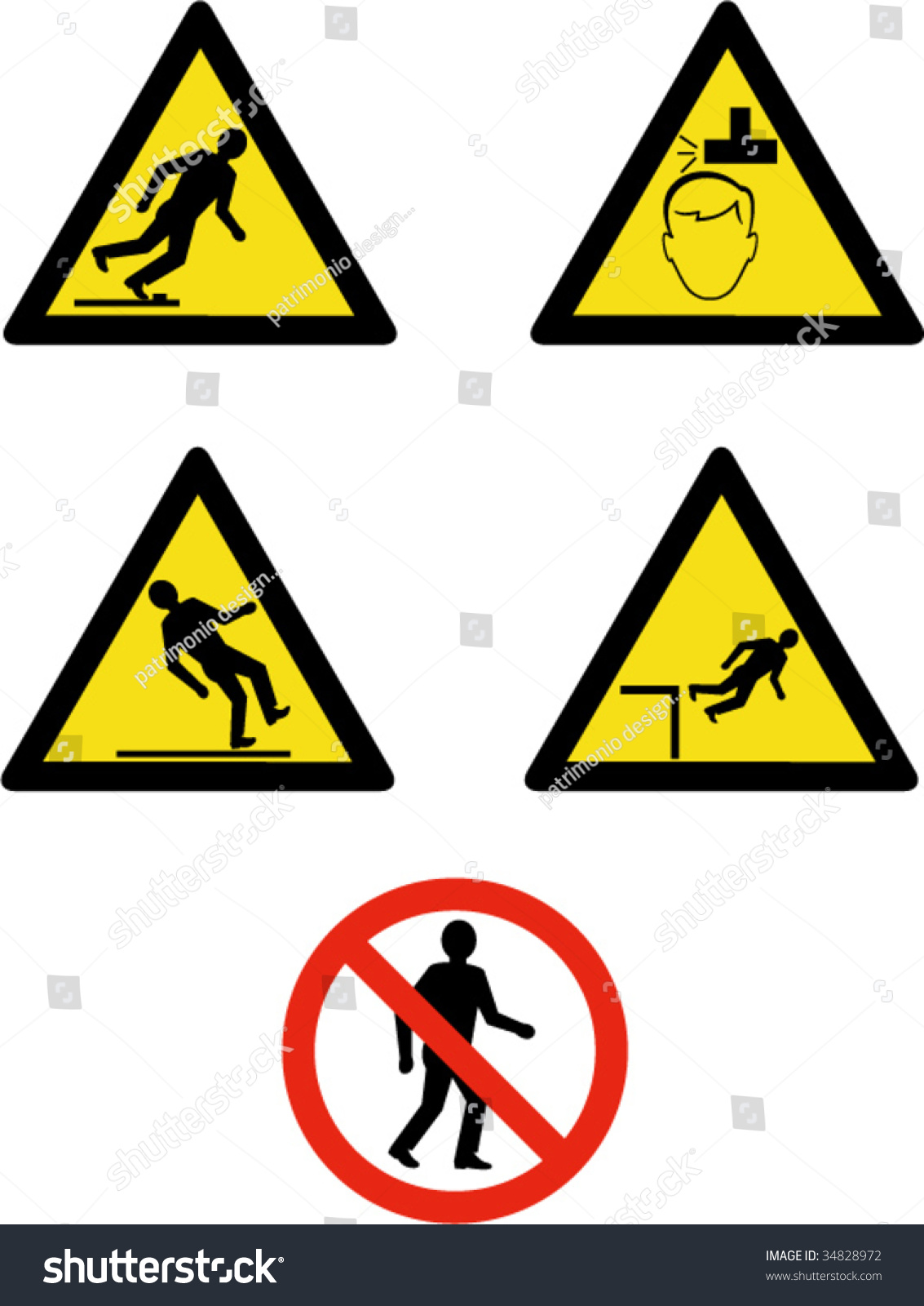 Industrial Workplace Signs Symbols Showing Site Stock Vector