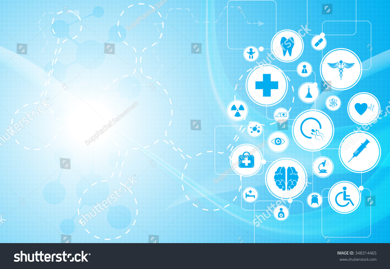 vector background health care concept medical stock vector