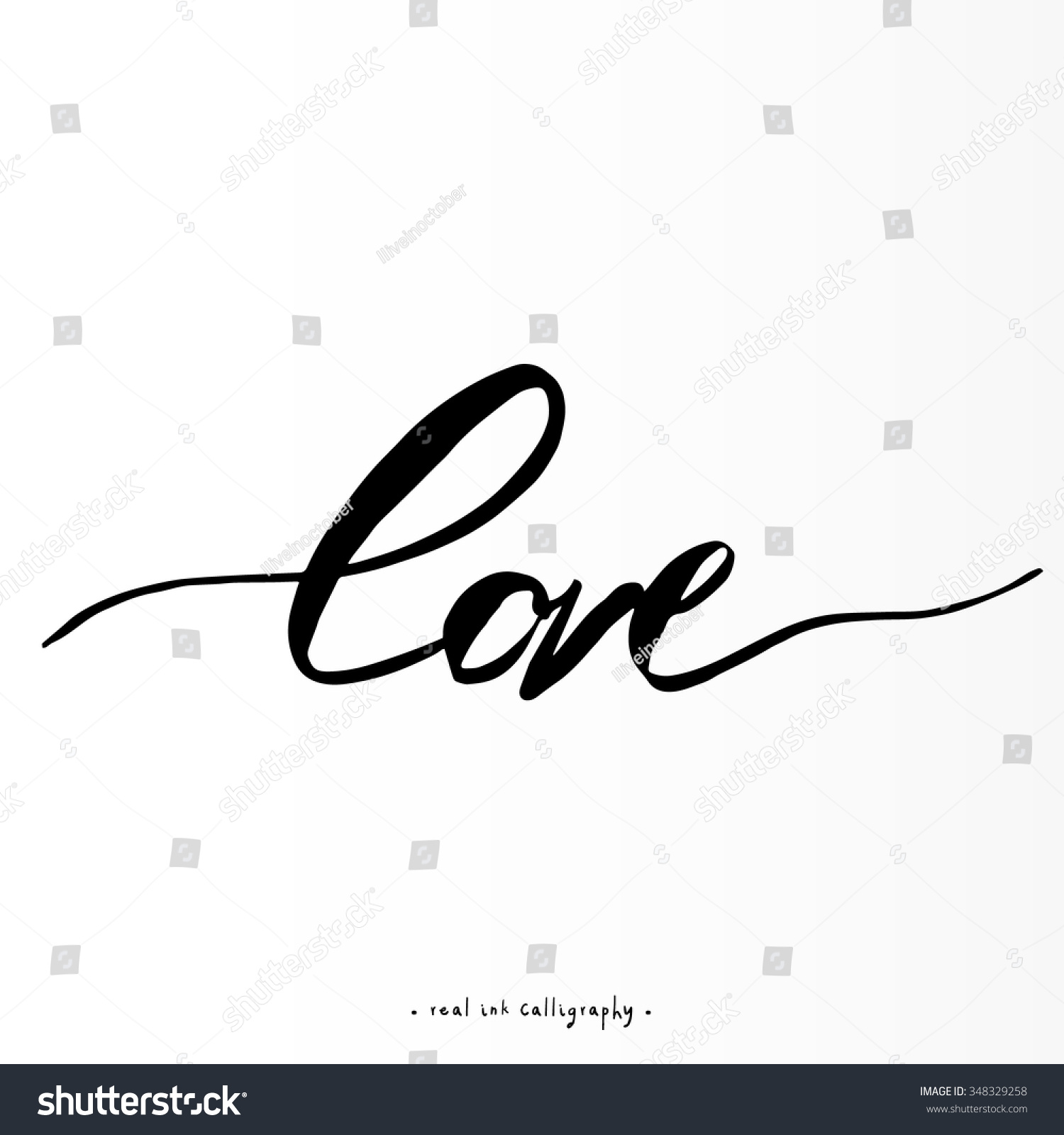 Beautiful Typography Background Hand Drawn Word Stock