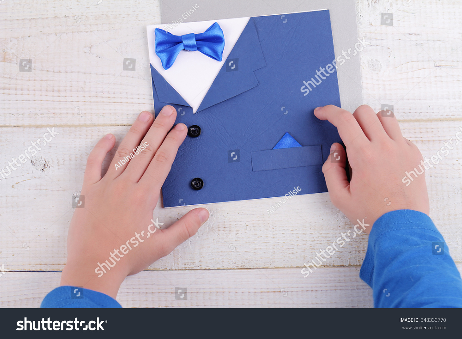 Child making greeting card father handmade stock photo 348333770 child making greeting card for father handmade dad happy birthday card happy fathers day kristyandbryce Choice Image
