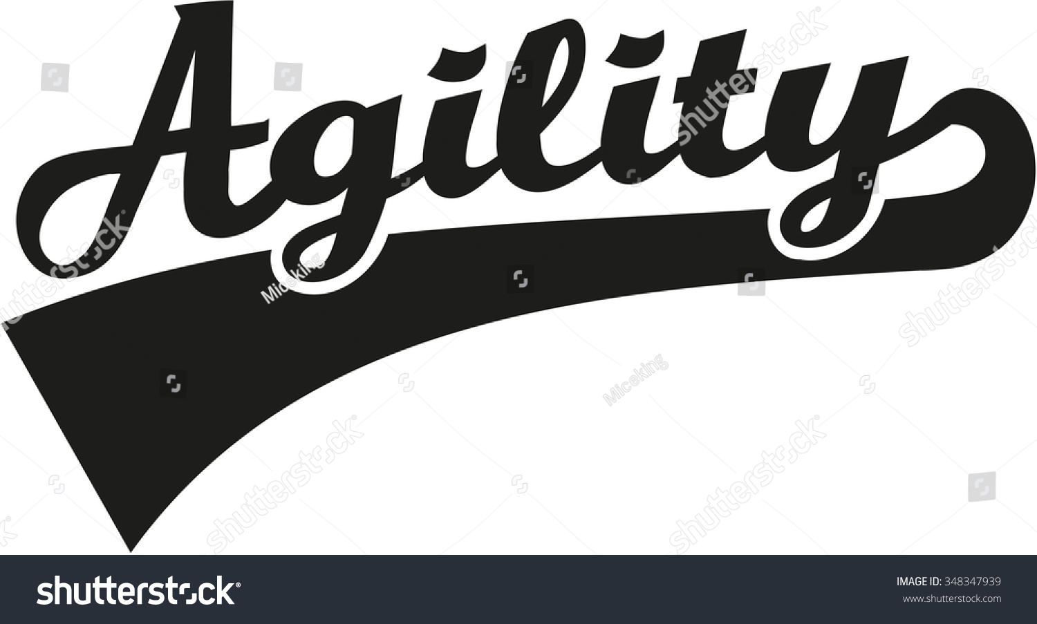 Agility Word Stock Vector 348347939 - Shutterstock
