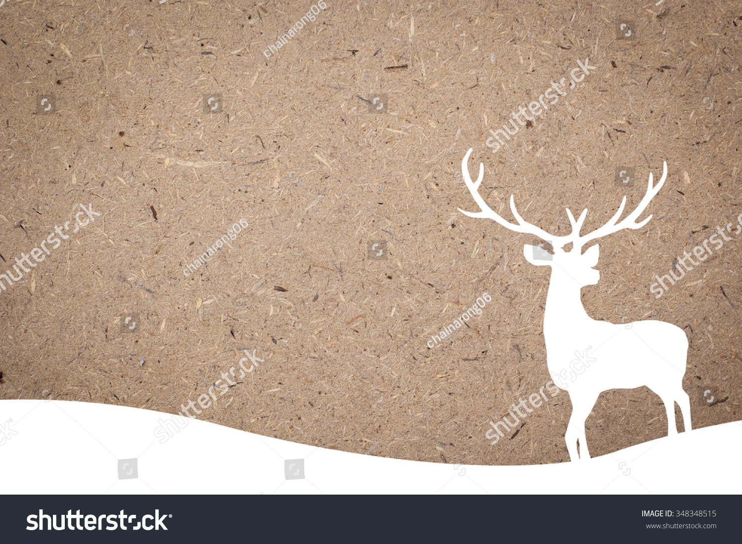 silhouette white reindeer over cork board backgrounds for Christmas celebration decorate concept xmas backdrop seasonal merry Christmas festival and new year wallpaper concept.silhouette with path
