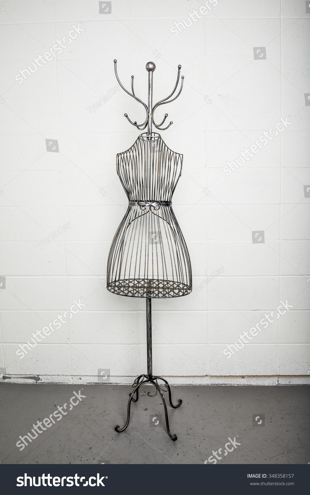 Vintage Metal Coat Rack Metal Wire Stock Photo (Edit Now) 348358157 ...