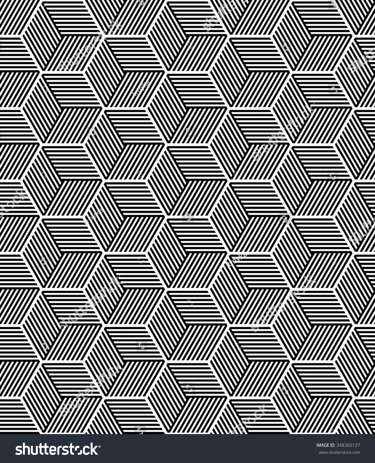 Seamless op art pattern 3d illusion stock vector 348360137 for Geometric illusion art