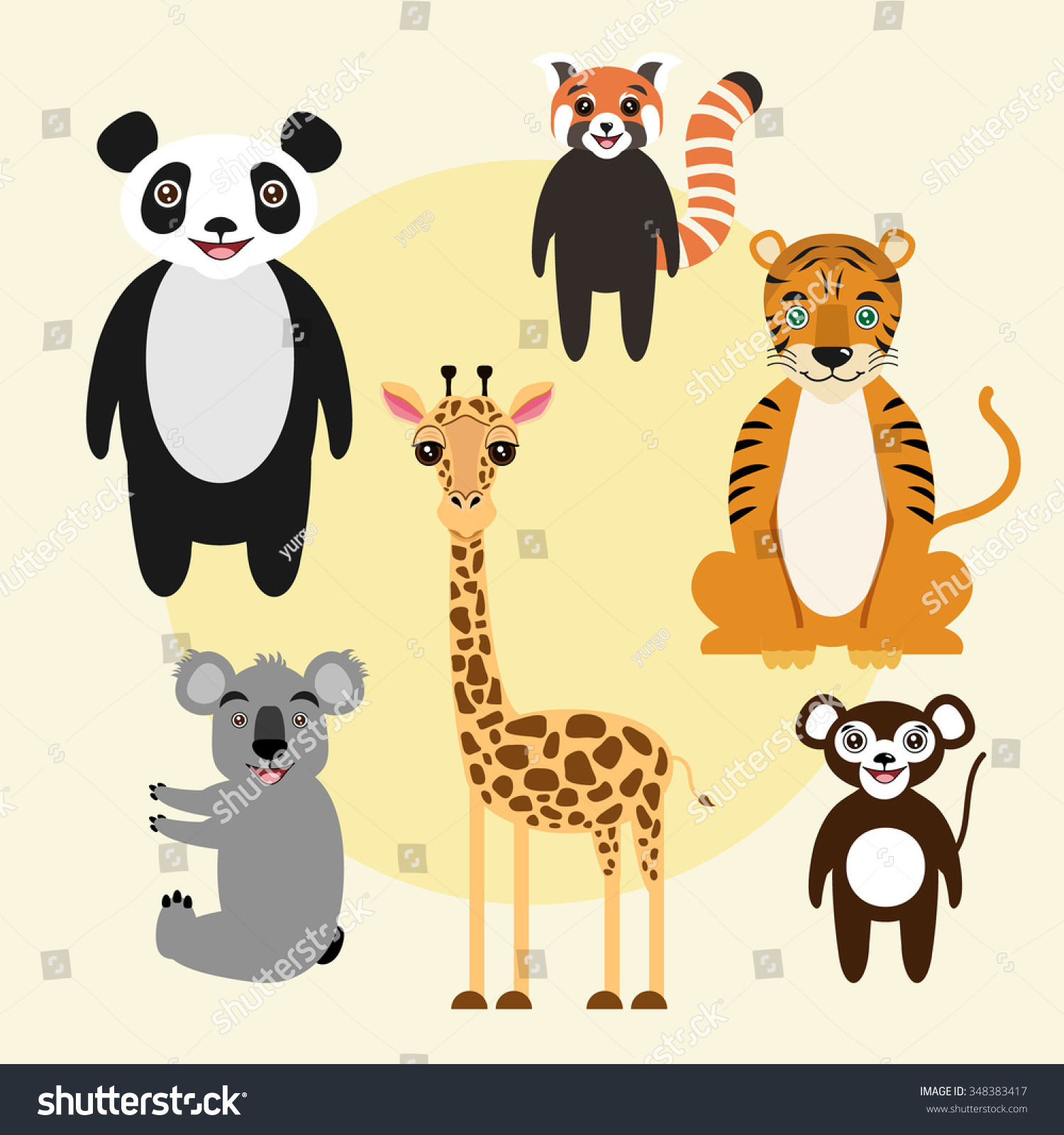 2083 Best Images About Puppetry: Royalty-free Set Of Vector Animals. Children Cartoon
