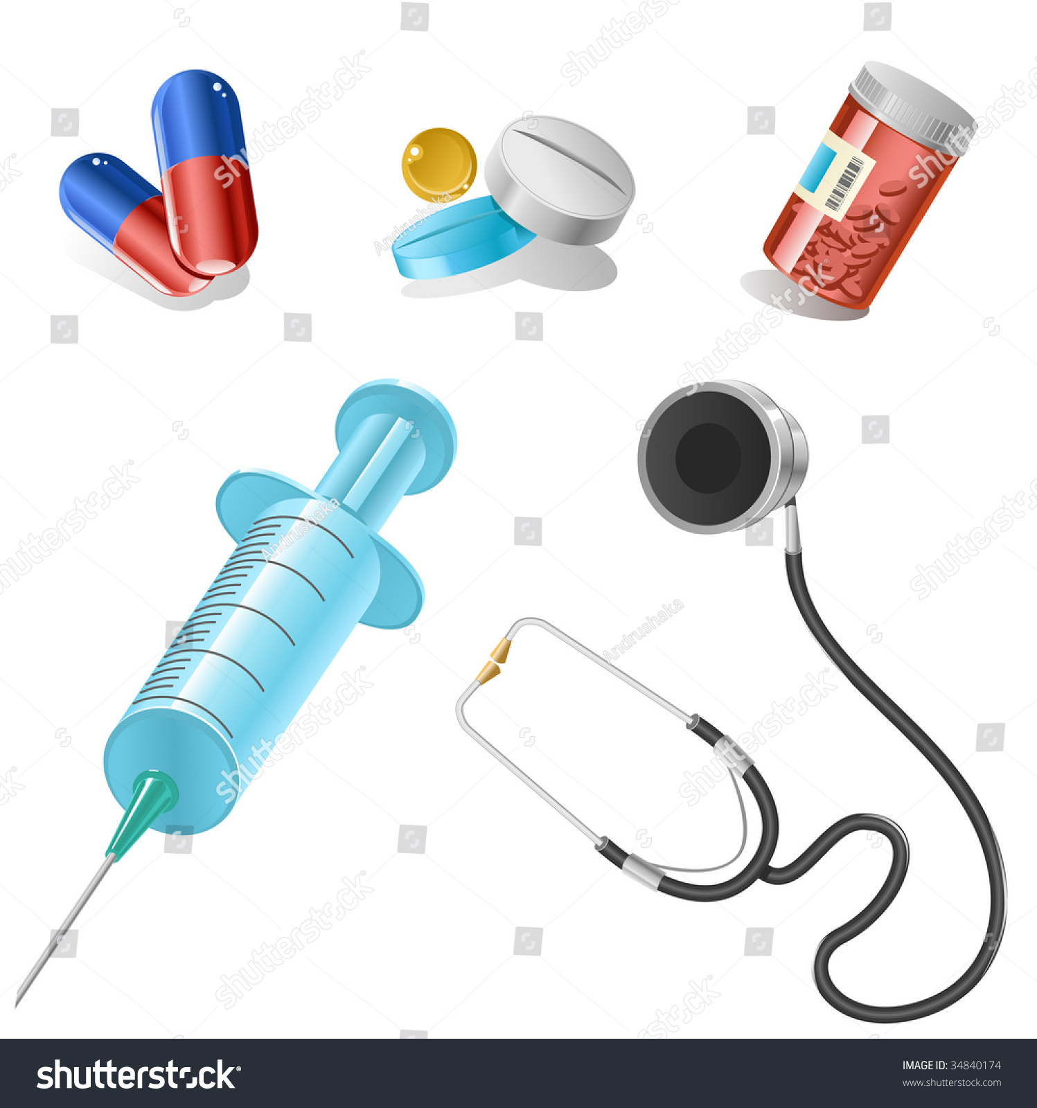 Still Life Of Medical Items Used By Doctors To Treat Stock Photos ...