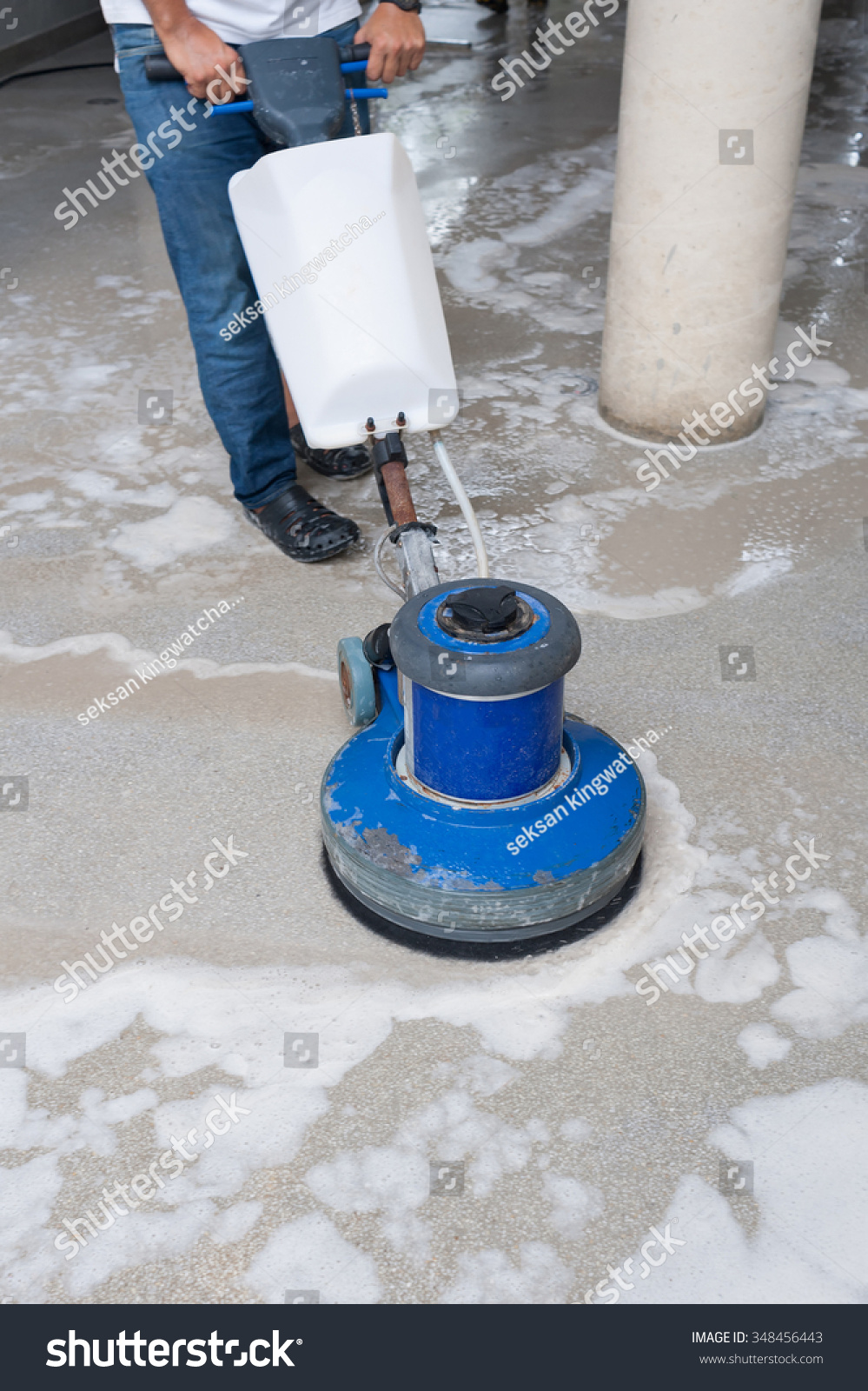 Cleaning Granite Floor Machine Chemical Stock Photo Edit Now