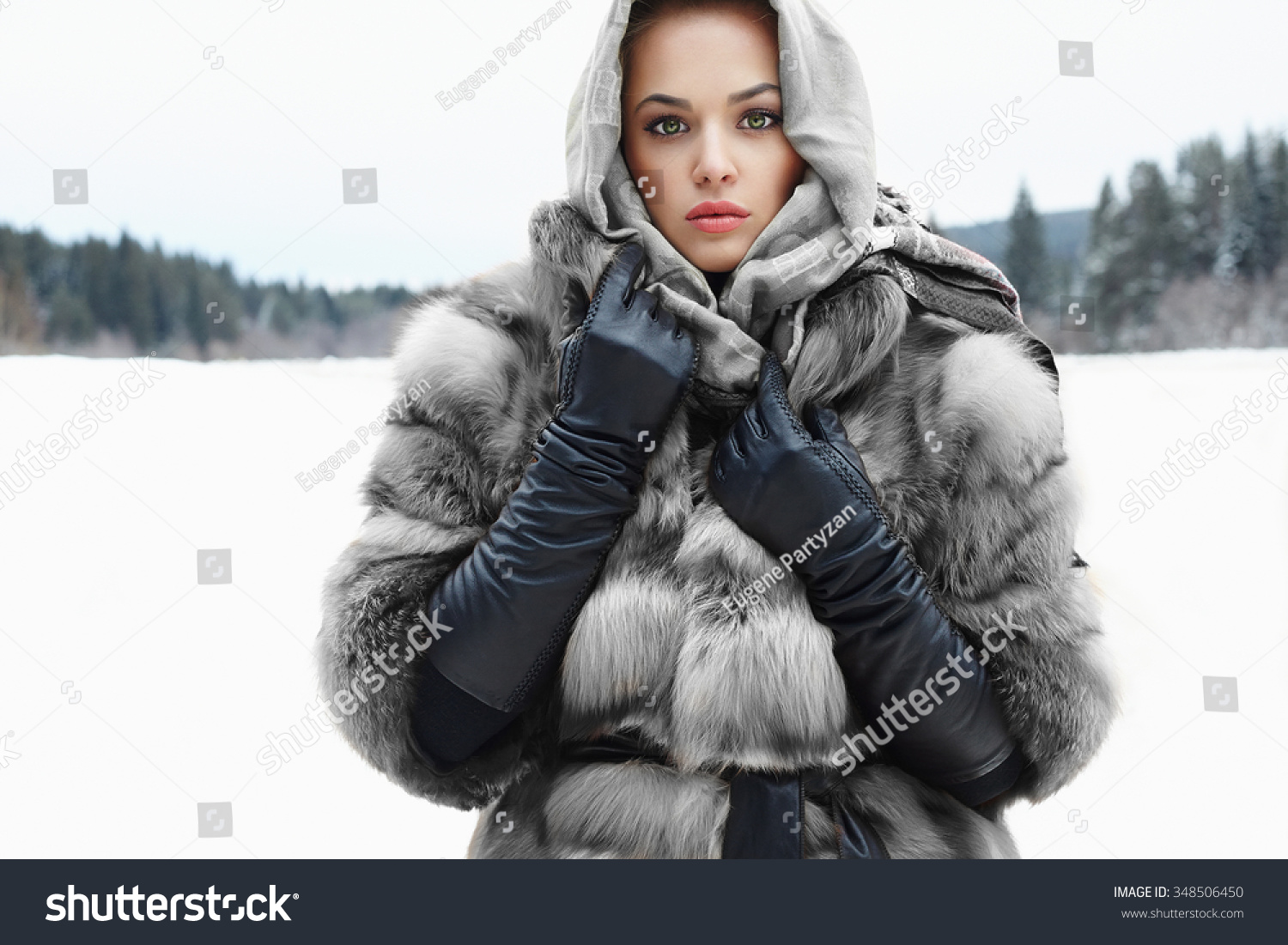Ladies in leather gloves and boots - Beauty Model Girl In Winter Time Beautiful Young Woman In Fashionable Fur Coat Leather