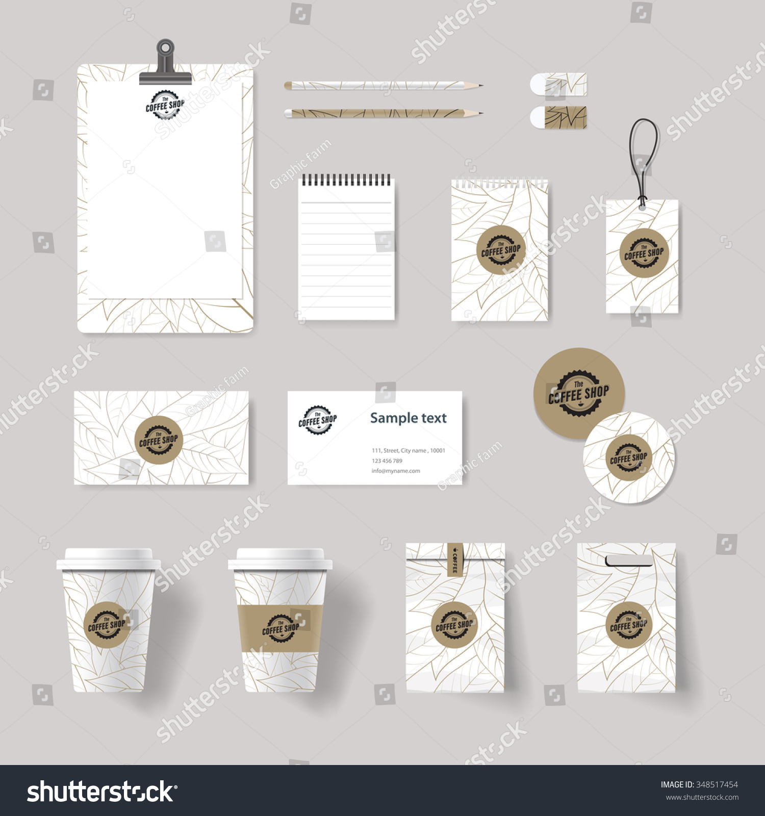 coffee shop and restaurant branding identity mock up template   card  menu vector stationary