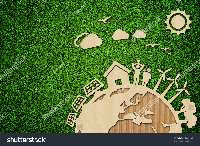 Environmental Green Energy Concept Illustration Cardboard