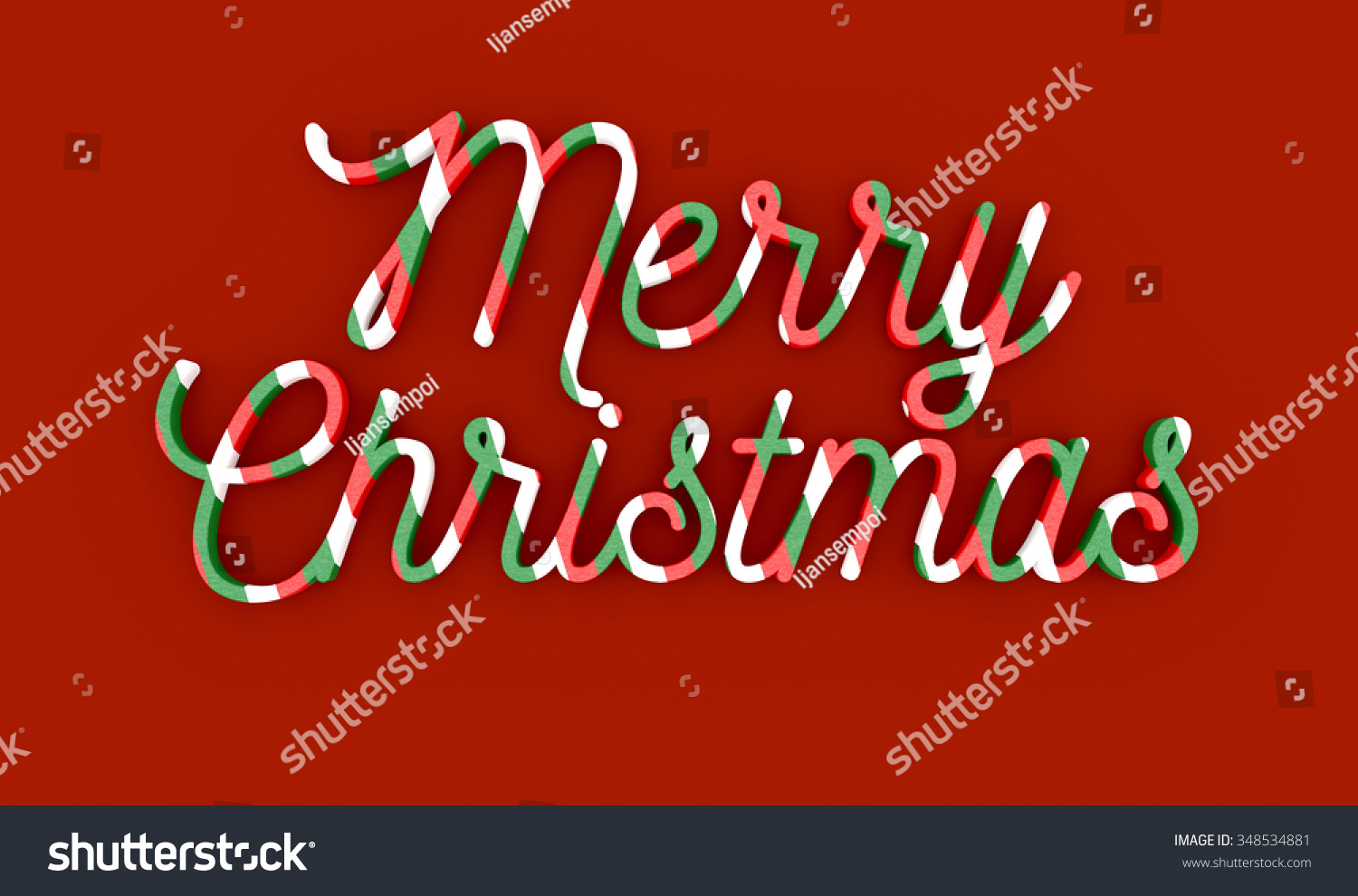 Merry Christmas Wording On Red Background Stock Illustration