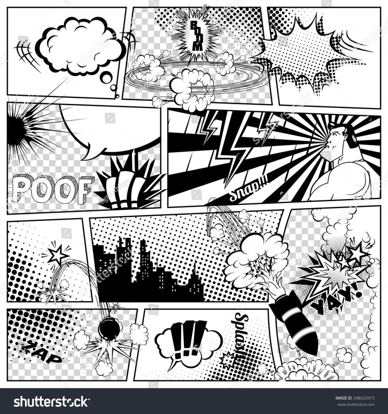 blank comic book template