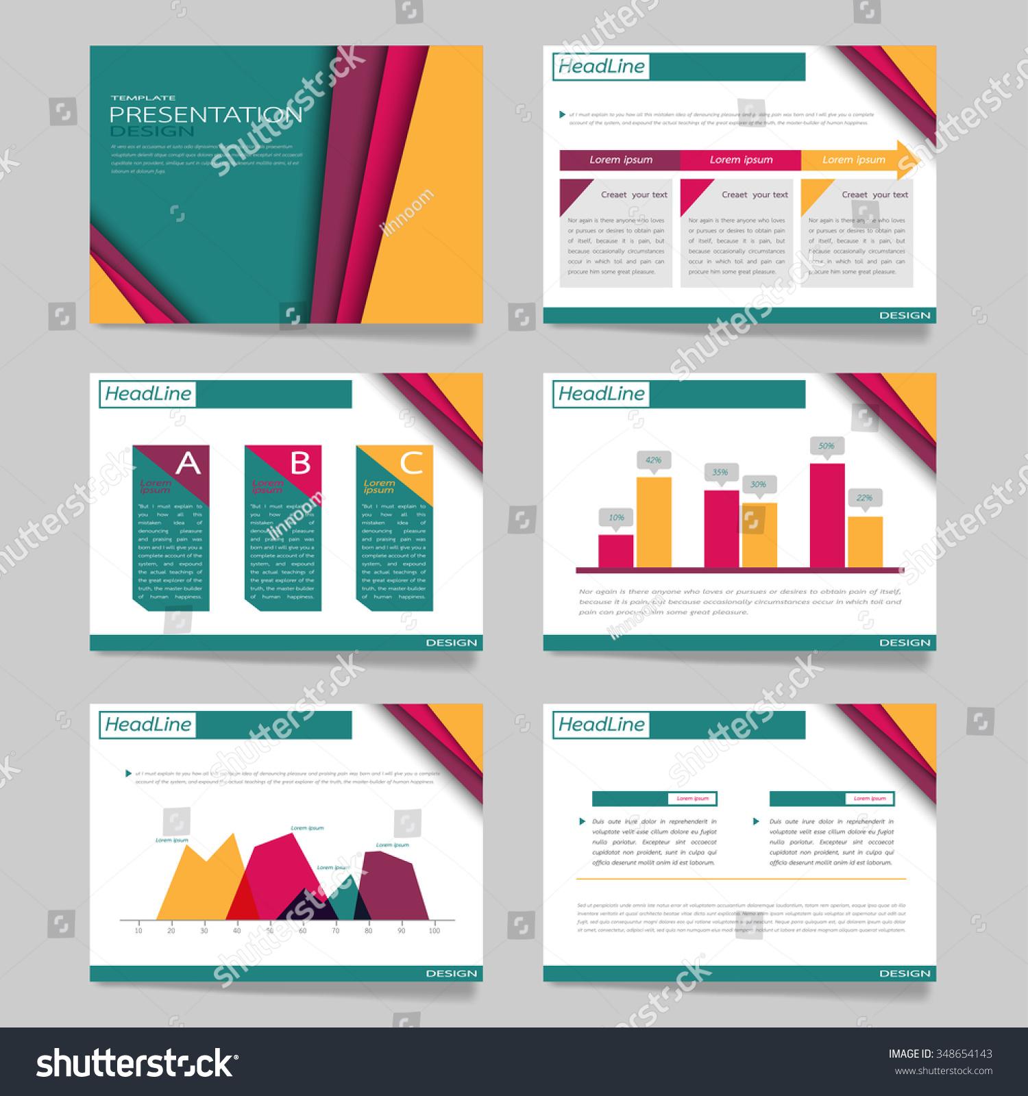 vector template set presentationslideslayoutcharts brochure flyer stock vector 348654143. Black Bedroom Furniture Sets. Home Design Ideas