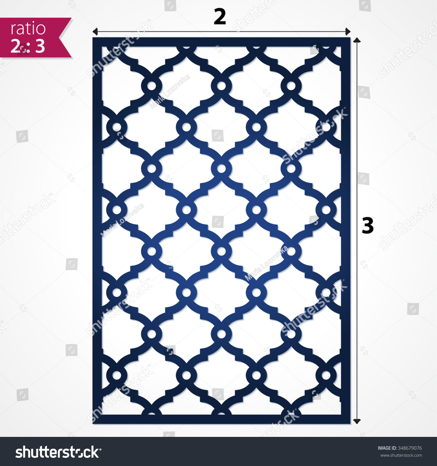 Die cut card laser cut vector stock vector 348679076 for Wall art templates free