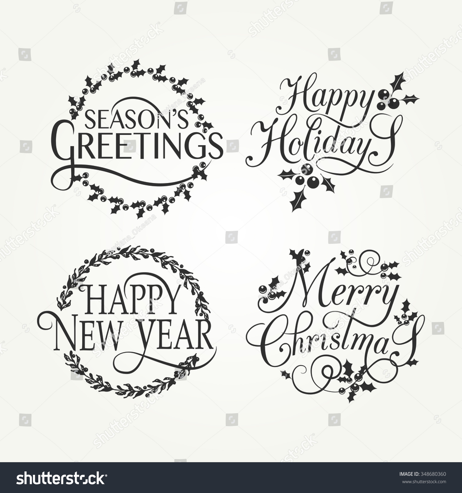 happy holidays template happy new year 2017 email template stock ...