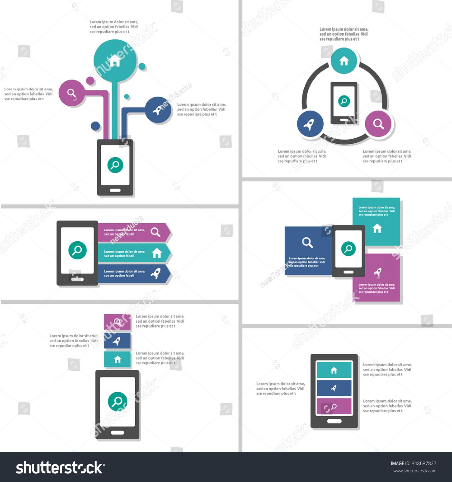 mobile phone infographic elements presentation template stock mobile phone infographic elements presentation template flat design set for brochure flyer leaflet marketing advertising