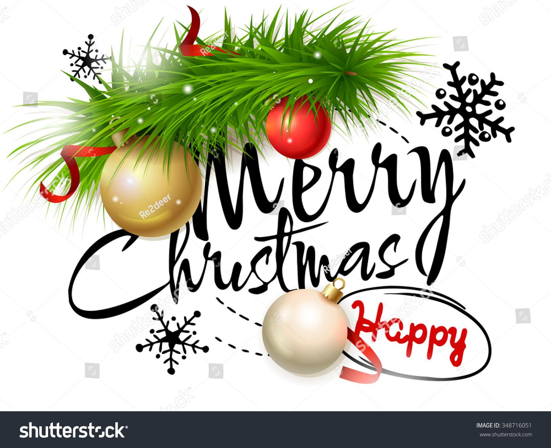 Merry Christmas Card Vector Illustration Christmas Stock Vector